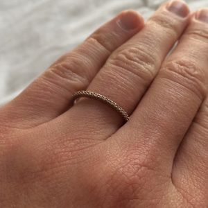 Jewelry - Rose Gold Plated SS CZ Band Ring